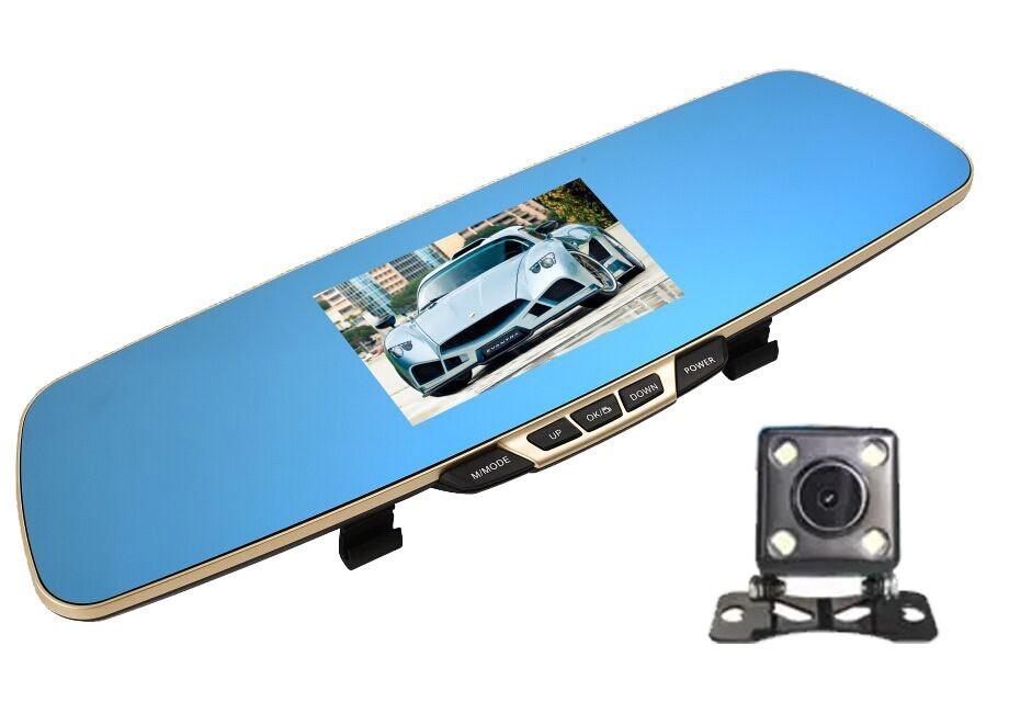 Camera Auto iUni Dash B600 Oglinda, Dual Cam, Full HD, LCD 4,3 inch, Foto, Playback imagine techstar.ro 2021