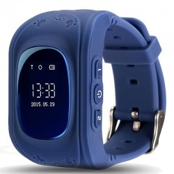 Ceas cu GPS Tracker si Telefon pentru copii iUni Kid60, Bluetooth, Apel SOS, Activity and sleep, Dark Blue