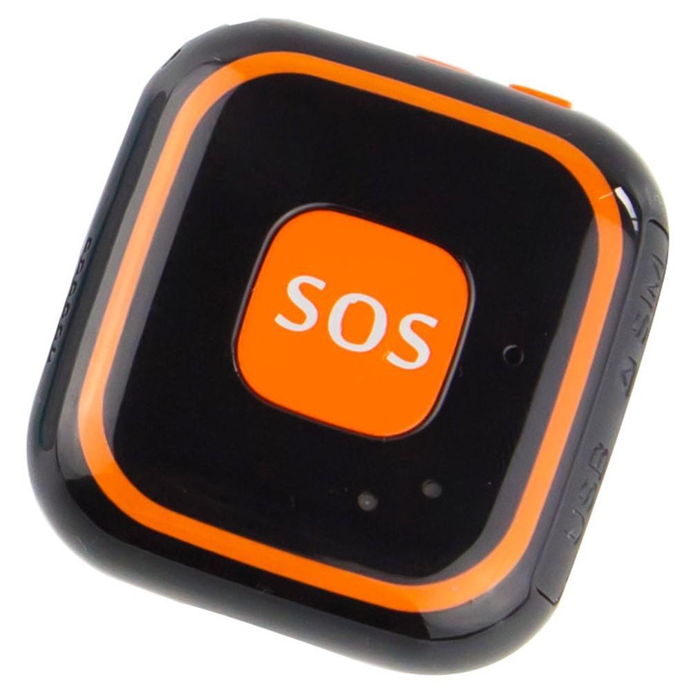 Mini GPS Tracker GSM iUni V29, SOS, GPS+LBS+WIFI, copii si varstnici, Negru