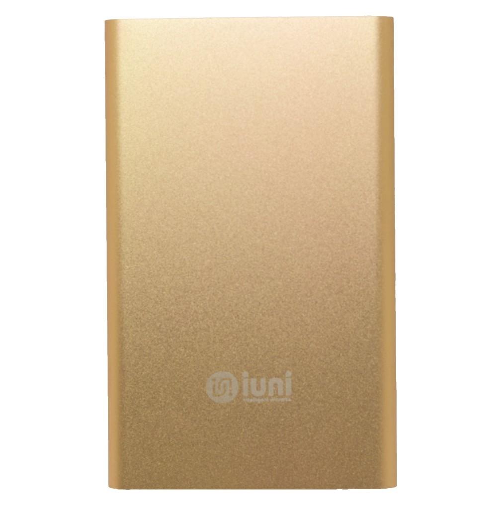 Baterie externa iUni PB11, 5000mAh, Powerbank, Gold imagine techstar.ro 2021