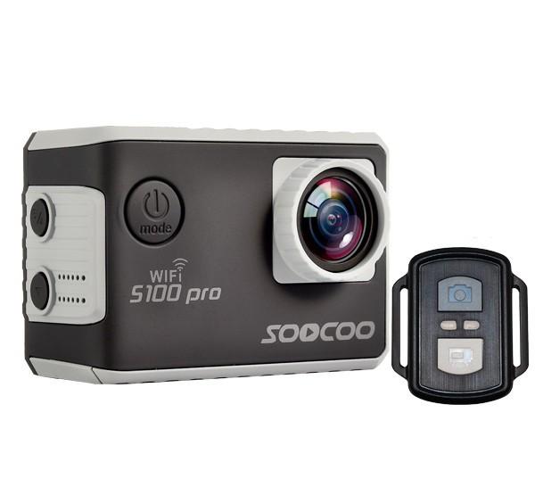 camera video sport 4k iuni dare s100 pro black, wifi, mini hdmi, 2 inch lcd, comanda vocala, telecomanda