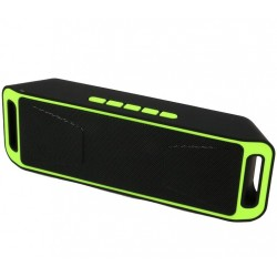 Boxa Portabila Bluetooth iUni DF02, USB, TF CARD, AUX-IN, Fm radio, Verde
