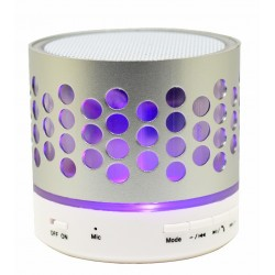Boxa Portabila Bluetooth iUni DF05, 3W, USB, Slot Card, AUX-IN, Radio, Aluminiu, Argintiu