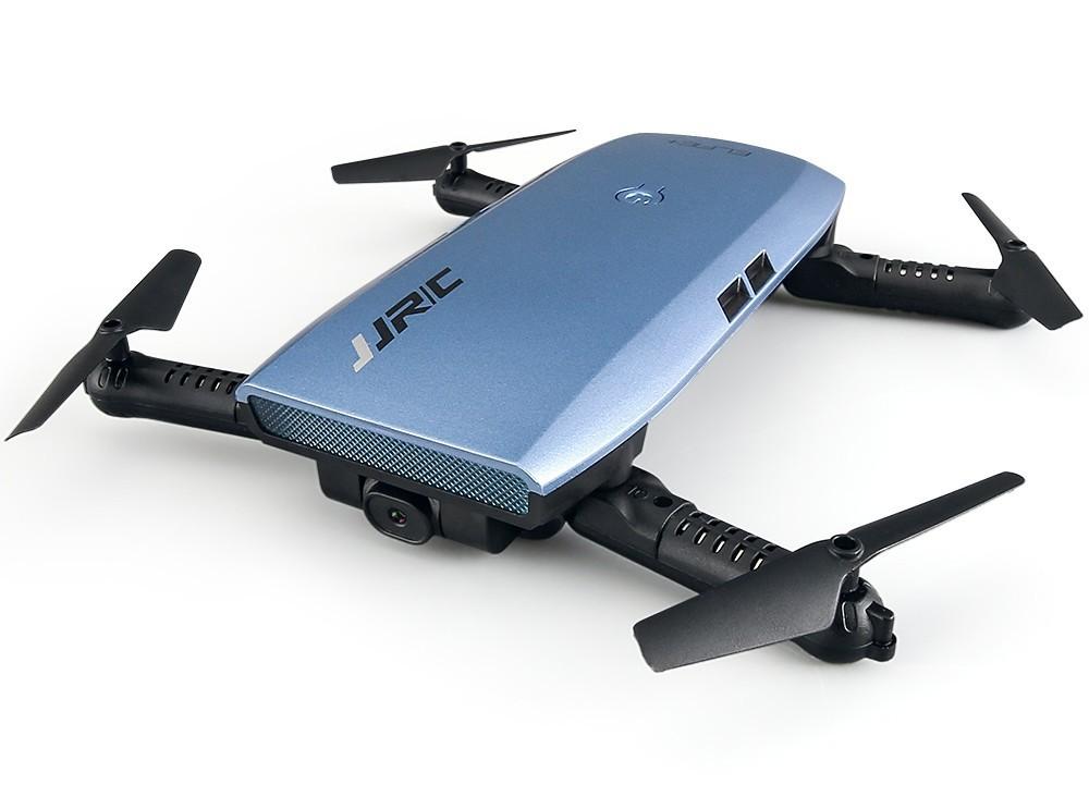 drona iuni n47 elfie, brate pliabile, wifi, transmisie live pe telefon, 4 canale, g-sensor, albastru