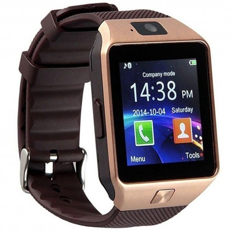Ceas Smartwatch iUni DZ09 Plus, BT, Camera 1.3MP, 1.54 Inch, Auriu