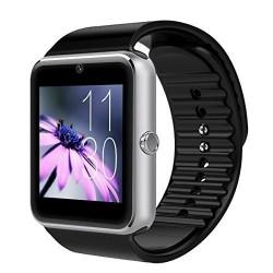 Ceas Smartwatch cu Telefon iUni GT08, Bluetooth, Camera 1.3 MP, Ecran LCD antizgarieturi, Silver