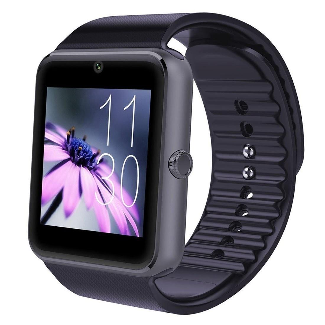 Ceas Smartwatch cu Telefon iUni GT08, Bluetooth, Camera 1.3 MP, Ecran LCD antizgarieturi, Black imagine techstar.ro 2021