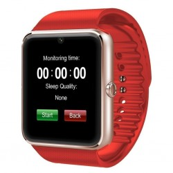 Ceas Smartwatch cu Telefon iUni GT08, Bluetooth, Camera 1.3 MP, Ecran LCD antizgarieturi, Red
