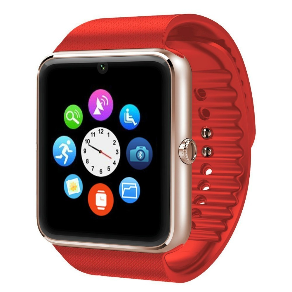 Ceas Smartwatch cu Telefon iUni GT08s Plus, BT, 1.54 inch, Rosu imagine techstar.ro 2021