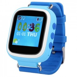 Ceas GPS Copii iUni Kid90, Telefon incorporat, Buton SOS, BT, LCD 1.44 Inch, Blue