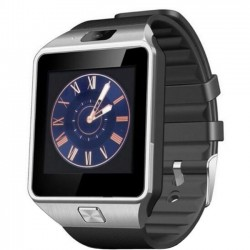Ceas Smartwatch iUni DZ09, BT, Camera 1.3MP, 1.54 Inch, Argintiu