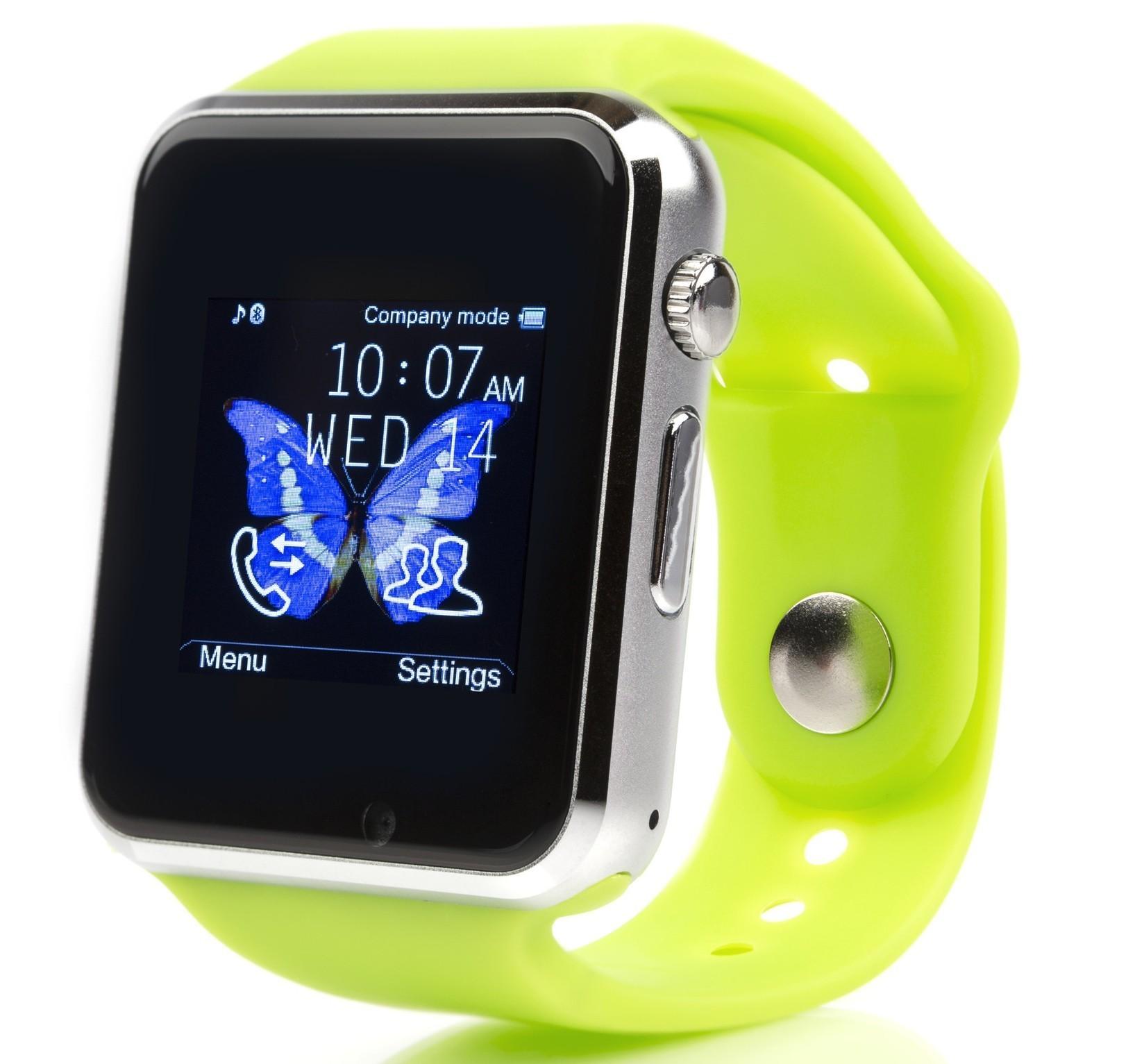 Smartwatch cu Telefon iUni A100i, LCD 1.54 Inch, BT, Camera, Verde imagine techstar.ro 2021