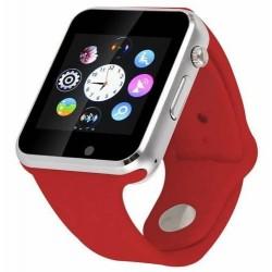 Smartwatch cu Telefon iUni A100i, BT, LCD 1.54 Inch, Camera, Rosu
