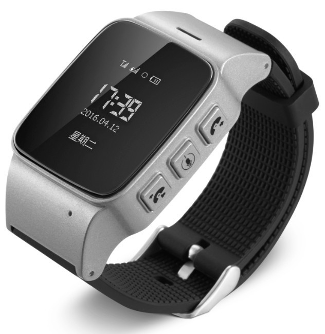 Techstar Ceas GPS Copii si Seniori iUni U100, Telefon incorporat, Pedometru, Notificari, Wi-fi, Silver