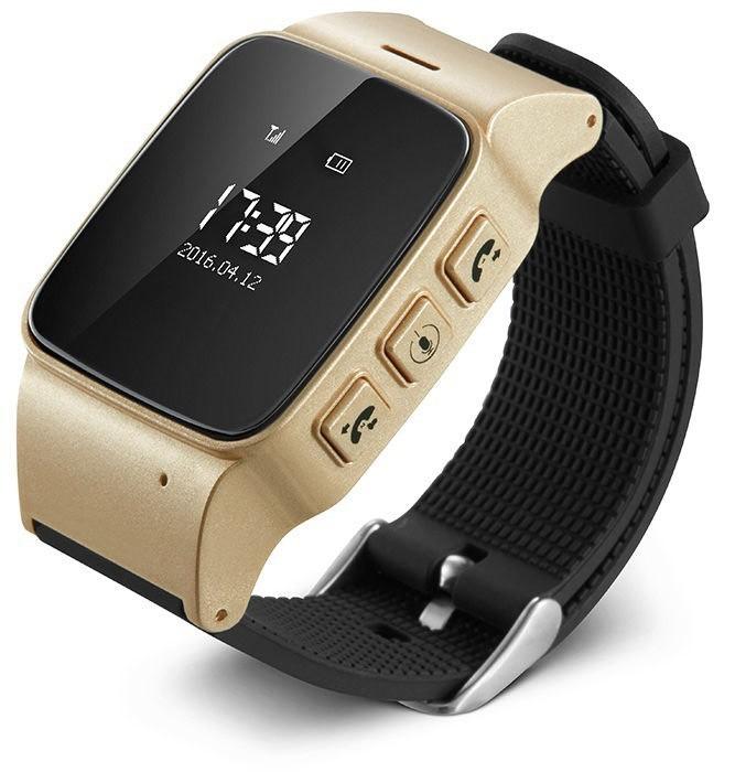 Ceas GPS Copii si Seniori iUni U100, Telefon incorporat, Pedometru, Notificari, Wi-fi, Champagne Gold