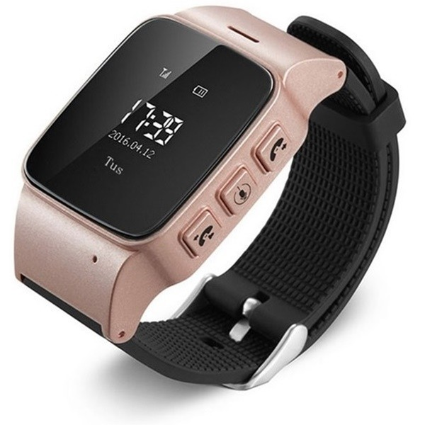 Ceas GPS Copii si Seniori iUni U100, Telefon incorporat, Pedometru, Notificari, Wi-fi, Rose Gold