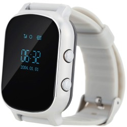 Ceas GPS Copii si Adulti iUni Kid58, Telefon incorporat, LBS, Wi-Fi, Silver