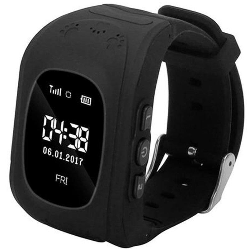 Ceas GPS Tracker si Telefon pentru copii iUni Kid60, BT, Apel SOS, Activity and sleep, Black