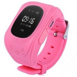 Ceas cu GPS Tracker si Telefon pentru copii iUni Kid60, BT, Apel SOS, Activity and sleep, Roz
