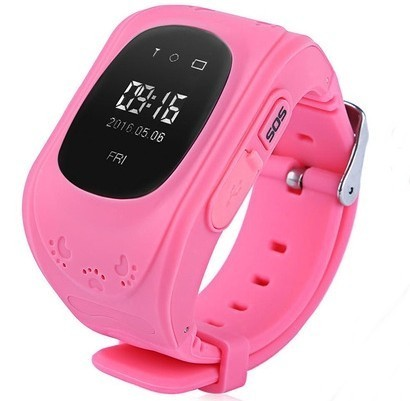 Ceas cu GPS Tracker si Telefon pentru copii iUni Kid60, BT, Apel SOS, Activity and sleep, Roz imagine
