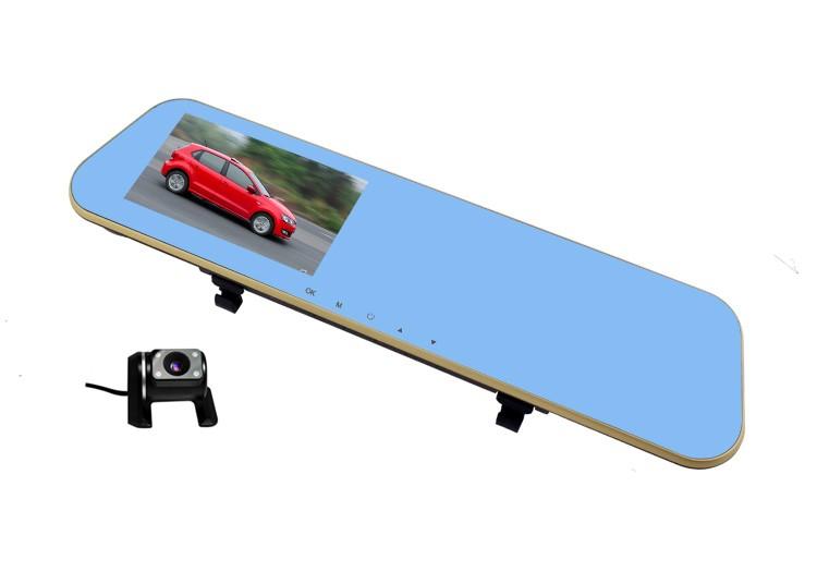 Camera Auto Oglinda Dubla L856 cu unghi de 170° FullHD
