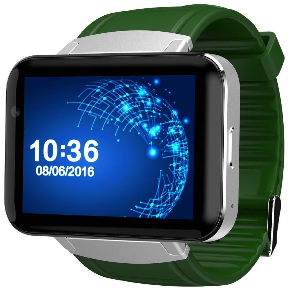 smartwatch telefon cu android iuni dm98, wifi, 3g, camera 2 mp, bt, 2,2 inch, green