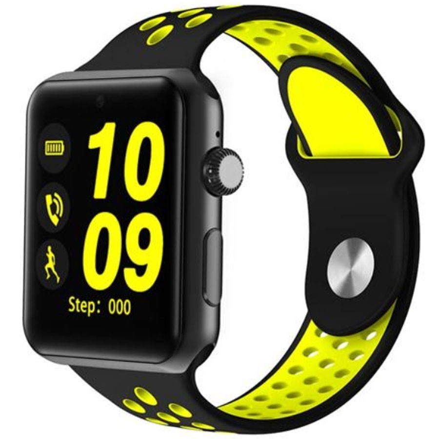 Ceas Smartwatch Telefon iUni DM09 Plus, Camera, BT, 1.54 inch, Yellow