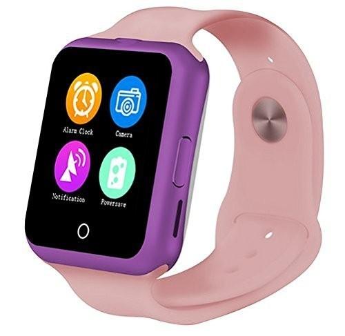 Ceas Smartwatch cu Telefon iUni V88,1.22 inch, BT, 64MB RAM, 128MB ROM, Roz imagine techstar.ro 2021