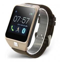 Smartwatch iUni U18 Slim, Bluetooth, LCD 1.5 inch, Sleep Monitor, Pedometru, Carcasa metalica, Auriu