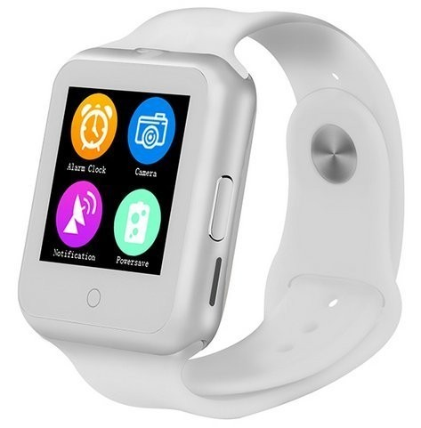Ceas Smartwatch cu Telefon iUni V88,1.22 inch, BT, 64MB RAM, 128MB ROM, Alb imagine techstar.ro 2021