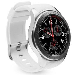 Smartwatch Telefon cu Android iUni DM368, AMOLED 1,39 inch, WIFI, 3G, GPS, Bluetooth, Monitorizare Puls, Alb