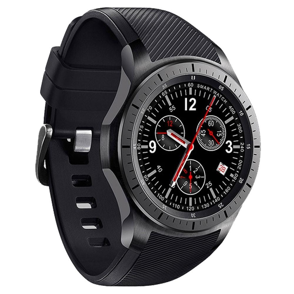 Smartwatch Telefon cu Android iUni DM368, AMOLED 1,39 inch, WIFI, 3G, GPS, Bluetooth, Monitorizare Puls, Negru imagine techstar.ro 2021