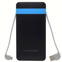 Baterie externa iUni PB16, 10000mAh, Dual USB, Powerbank, Black