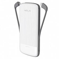 Baterie externa iUni MS100S, 10000mAh, Dual USB, Powerbank, White