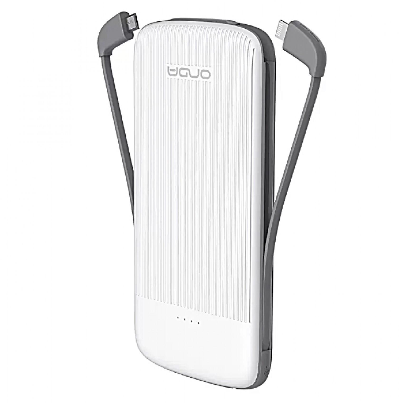 Baterie externa iUni MS100S, 10000mAh, Dual USB, Powerbank, White imagine techstar.ro 2021
