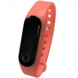 Bratara fitness iUni Z6i, LCD 0.69 inch, Bluetooth, Activity and Sleep, Roz