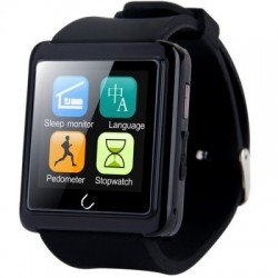 Smartwatch U-Watch BT-U10L Bluetooth Negru cu Radio FM