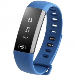 Bratara fitness iUni N2s, Bluetooth, LCD 0.86 inch ,Notificari, Pedometru, Monitorizare Sedentarism, Puls, Oxigen sange, Blue