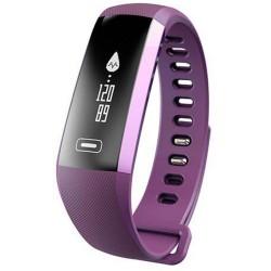 Bratara fitness iUni N2s, Bluetooth, LCD 0.86 inch ,Notificari, Pedometru, Monitorizare Sedentarism, Puls, Oxigen sange, Purple