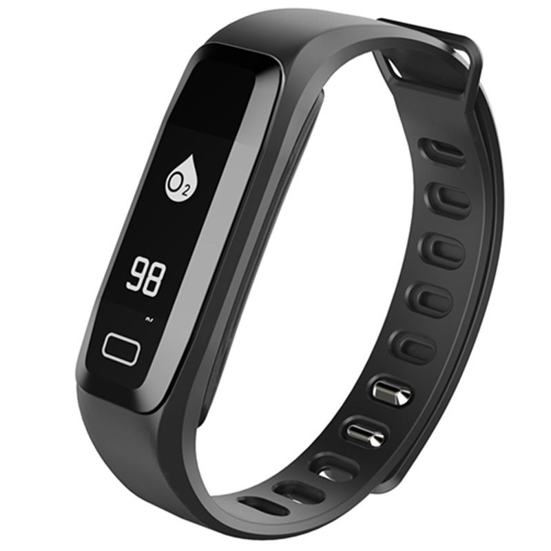 Bratara fitness iUni G16, Bluetooth, LCD 0.86 inch ,Notificari, Pedometru, Monitorizare Sedentarism, Puls, Oxigen sange, Black