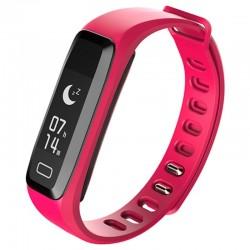 Bratara fitness iUni G16, Bluetooth, LCD 0.86 inch ,Notificari, Pedometru, Monitorizare Sedentarism, Puls, Oxigen sange, Pink
