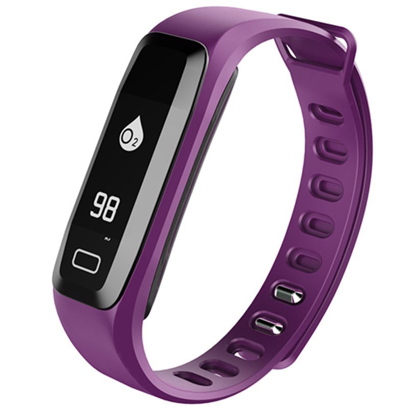 Bratara fitness iUni G16, Bluetooth, LCD 0.86 inch, Notificari, Pedometru, Monitorizare Sedentarism, Puls, Oxigen sange, Purple