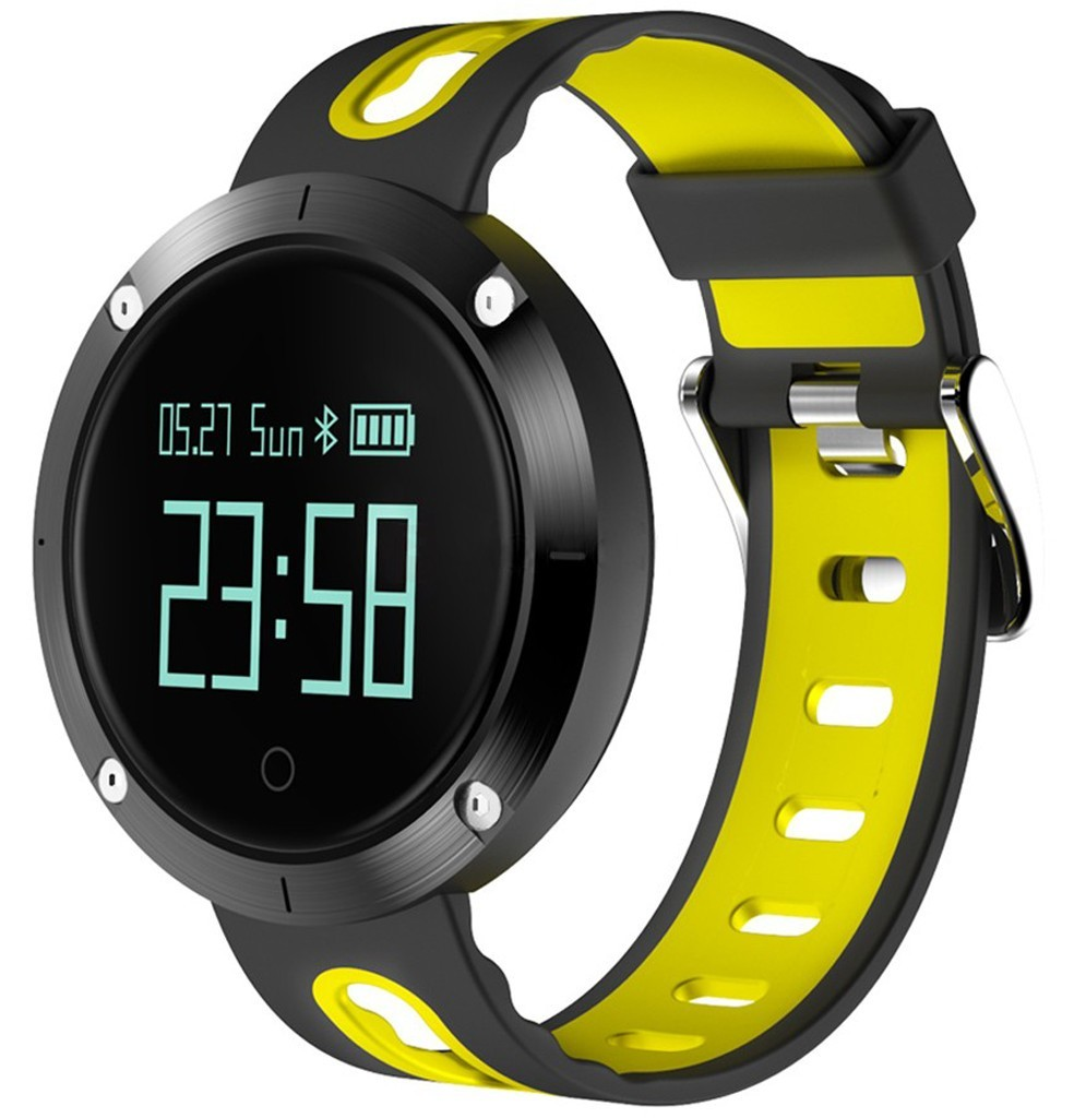 Bratara Fitness iUni DM58 Plus, Waterproof, Display OLED, Ceas, Pedometru, Monitorizare puls, Notificari, Galben imagine techstar.ro 2021