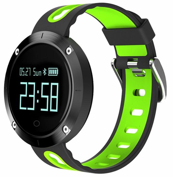 Bratara Fitness iUni DM58 Plus, Waterproof, Display OLED, Ceas, Pedometru, Monitorizare puls, Notificari, Verde