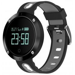 Bratara Fitness iUni DM58 Plus, Waterproof, Display OLED, Ceas, Pedometru, Monitorizare puls, Notificari, Gri
