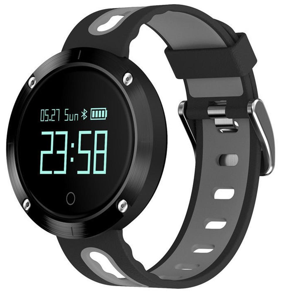 Bratara Fitness iUni DM58 Plus, Waterproof, Display OLED, Ceas, Pedometru, Monitorizare puls, Notificari, Gri