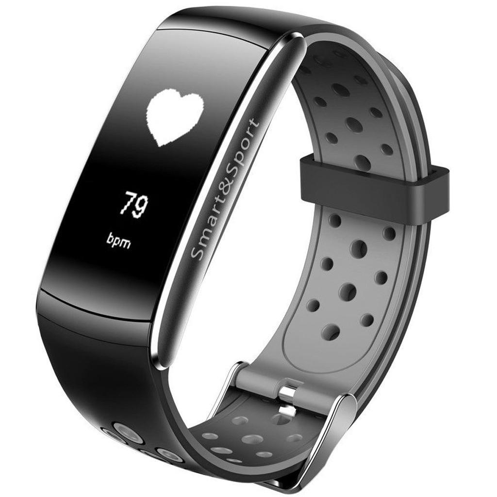 Bratara Fitness iUni Z11 Plus, Display OLED, Bluetooth, Pedometru, Monitorizare puls, Notificari, Android si iOS, Negru