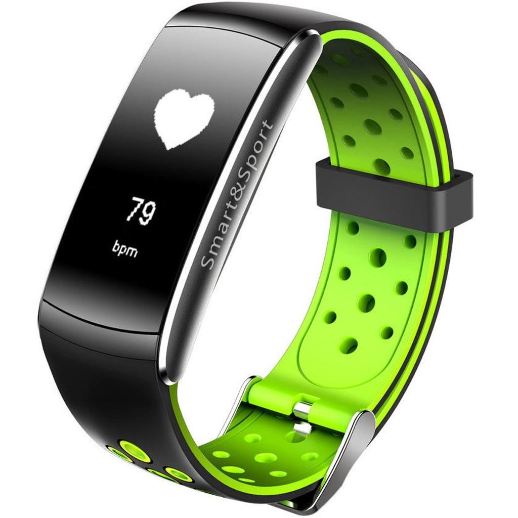 Bratara Fitness iUni Z11 Plus, Display OLED, Bluetooth, Pedometru, Monitorizare puls, Notificari, Android si iOS, Verde imagine techstar.ro 2021