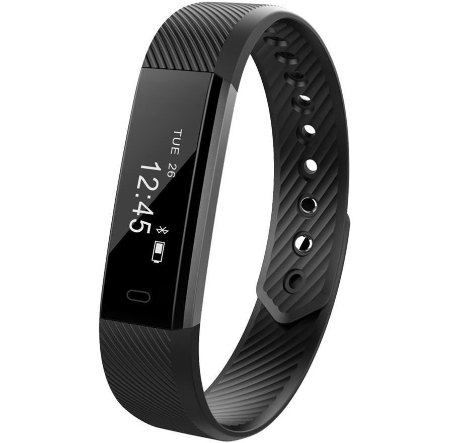 Bratara Fitness iUni ID115 Plus, Display OLED, Bluetooth, Pedometru, Monitorizare puls, Notificari, Negru imagine techstar.ro 2021