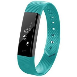 Bratara Fitness iUni ID115 Plus, Display OLED, Bluetooth, Pedometru, Monitorizare puls, Notificari, Android si iOS, Blue